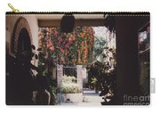 Mexico Garden Patio By Tom Ray Carry-all Pouch
