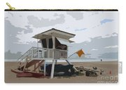 Miami Beach Lifeguard Station II Abstract Carry-all Pouch