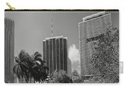 Miami Cityscape  Bw Carry-all Pouch