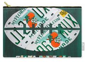 Miami Dolphins Football Recycled License Plate Art Carry-all Pouch