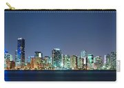 Miami Skyline At Night Carry-all Pouch