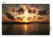 Miami Skyline Sunset Carry-all Pouch