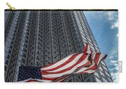 Miami's Financial Center And Old Glory Carry-all Pouch by Rene Triay Photography