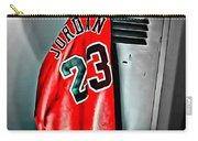 Michael Jordan 23 Shirt Carry-all Pouch by Florian Rodarte