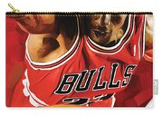 Michael Jordan Artwork 3 Carry-all Pouch by Sheraz A