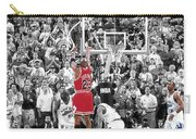 Michael Jordan Buzzer Beater Carry-all Pouch by Brian Reaves
