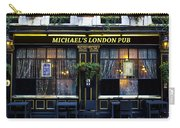 Michael's London Pub Carry-all Pouch by David Pyatt