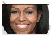 Michelle Obama Carry-all Pouch by Samuel Majcen
