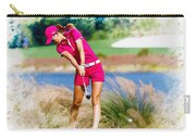 Michelle Wie Plays A Shot On The 6th Hole Carry-all Pouch