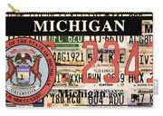 Michigan License Plate Carry-all Pouch