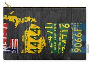 Michigan Love Recycled Vintage License Plate Art State Shape Lettering Phrase Carry-all Pouch by Design Turnpike