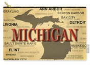 Michigan State Pride Map Silhouette  Carry-all Pouch