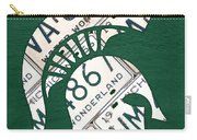 Michigan State Spartans Sports Retro Logo License Plate Fan Art Carry-all Pouch