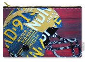 Michigan Wolverines College Football Helmet Vintage License Plate Art Carry-all Pouch