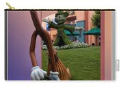Mickey And Broom Floral Walt Disney World Hollywood Studios Carry-all Pouch