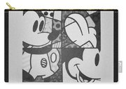 Mickey In Black And White Carry-all Pouch