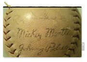 Mickey Mantle Baseball Autograph Carry-all Pouch