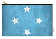 Micronesia Flag Vintage Distressed Finish Carry-all Pouch