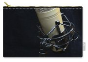 Microphone On Black Carry-all Pouch