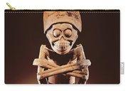 Mictlantecuhtli Lord Of Mictlan Remojadas Style, From Los Cerros, Tierra Blanca, Vera Cruz Pottery Carry-all Pouch