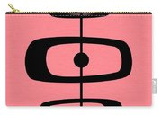 Mid Century Shapes 2 On Pink Carry-all Pouch