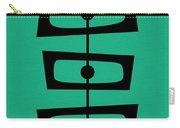 Mid Century Shapes On Aqua Carry-all Pouch