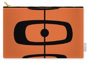 Mid Century Shapes 2 On Orange Carry-all Pouch