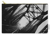 Mid Span  In Black And White Carry-all Pouch