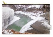 Middle Falls And Ice Feathers Carry-all Pouch