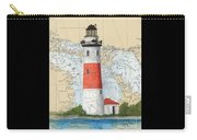 Middle Island Lighthouse Mi Cathy Peek Nautical Chart Art Carry-all Pouch