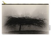 Middlethorpe Tree In Fog Sepia - Award Winning Photograph Carry-all Pouch