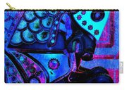 Midnight Blue Carousel Horse Carry-all Pouch