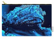 Midnight Blue Sea Shell Carry-all Pouch