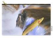 Miigrating Steelhead Salmon Leaping Carry-all Pouch