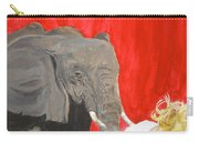 Mika And Elephant Carry-all Pouch