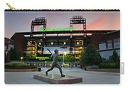 Mike Schmidt Statue At Dawn Carry-all Pouch