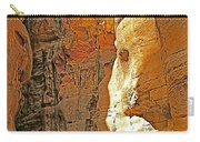 Mile-long Canyon Leads Through 600 Foot Deep Gorge To The Treasury In Petra-jordan Carry-all Pouch