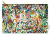 Miles Davis Watercolor Portrait.1 Carry-all Pouch