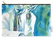 Miles Davis Watercolor Portrait.3 Carry-all Pouch