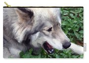 Miley The Husky With Blue And Brown Eyes - Impressionist Artistic Work Carry-all Pouch
