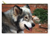 Miley The Husky With Blue And Brown Eyes Carry-all Pouch by Doc Braham