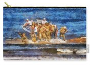 Military Beachhead Landing Photo Art Carry-all Pouch