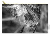 Milkweed Pod Monochrome Carry-all Pouch