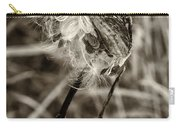 Milkweed Pod Sepia Carry-all Pouch
