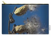 Milkweed Pods On A Blue Background  Carry-all Pouch