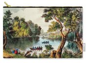 Mill Cove Lake Carry-all Pouch by Currier and Ives