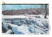Mill Pond In Winter Carry-all Pouch