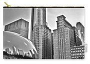 Millennium Park In Black And White Carry-all Pouch