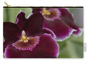 Miltoniopsis Rouge 'california Plum'  Macro  2692 Carry-all Pouch