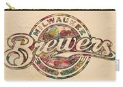 Milwaukee Brewers Poster Vintage Carry-all Pouch